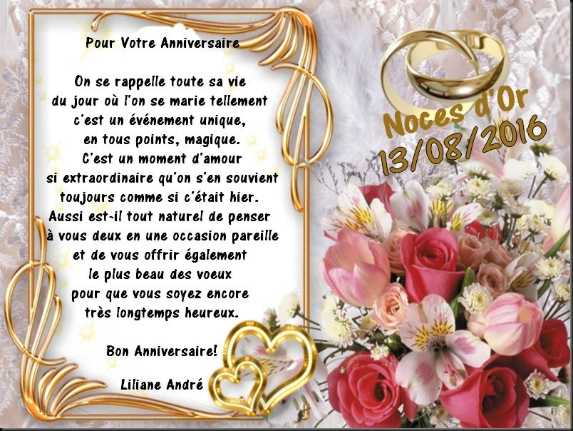 anniversaire de mariage de Puce et Marcel